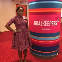 Big Brother Naija's Bisola is making her Mark at the ongoing UN General Assembly & at Bill & Melinda Gates' Goalkeepers Event